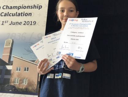 Egy szegedi diáklány lett a legjobb fejben számoló Európában