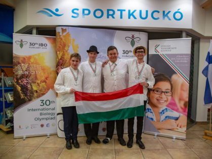 Success of Hungarian students at the Biology Olympiad in Szeged!